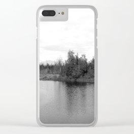Summer Landscape B&W Clear iPhone Case