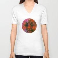 meditation V-neck T-shirts featuring Meditation by zAcheR-fineT