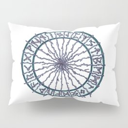 Elder Futhark Rune Wheel Pillow Sham