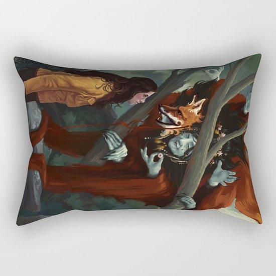 The Old Fox Rectangular Pillow