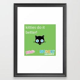 kitties do it better Framed Art Print