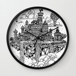 Floating city Wall Clock