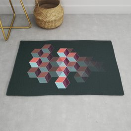 Colored Cubes - Stacked Rug