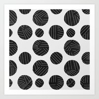 polka Art Prints featuring polka by spinL