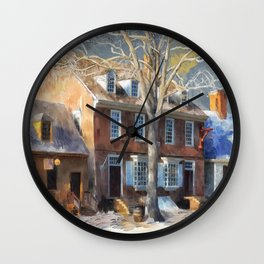 As Winter Melts Into Spring Wall Clock