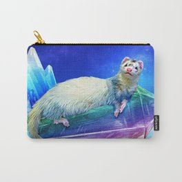 Ferret in the Sky with Crystals Carry-All Pouch