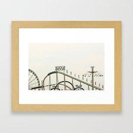Funfair Duesseldorf Framed Art Print