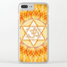 Lotos Sun Om Clear iPhone Case