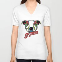 gizmo V-neck T-shirts featuring Gizmo by Gizmo