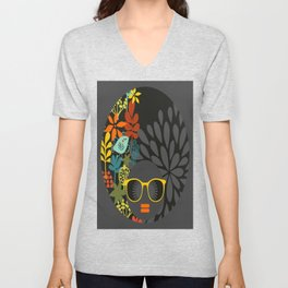 Afro Diva : Sophisticated Lady Gray Unisex V-Neck