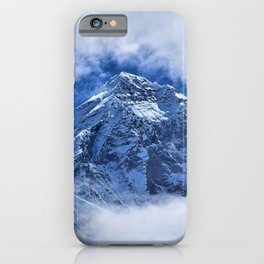 Summit of Mount Everest in clouds iPhone Case