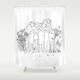 women who support each other Shower Curtain