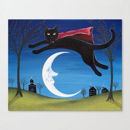 Dracula Cat Canvas Print