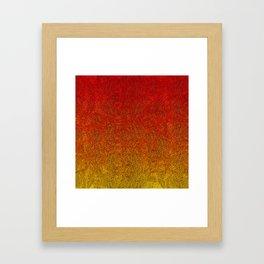 Flame Glitter Gradient Framed Art Print