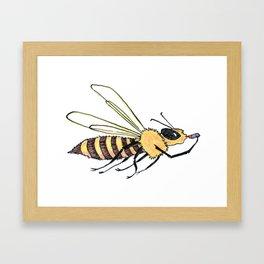 Lipstick Bee Framed Art Print