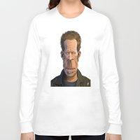 tom waits Long Sleeve T-shirts featuring Celebrity Sunday ~ Tom Waits by rob art | illustration