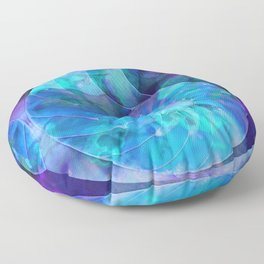 Blue Nautilus Shell - Nature's Perfection by Sharon Cummings Floor Pillow
