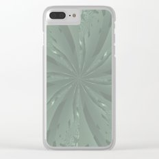 Lost in the Laurels Fractal Bloom Clear iPhone Case