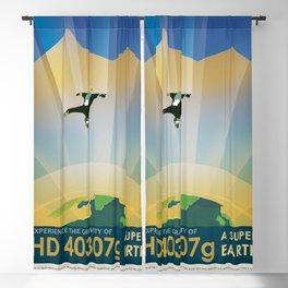 NASA / visions of the future poster / HD Blackout Curtain