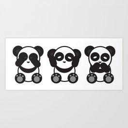 Panda Mantra Art Print