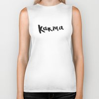 karma Biker Tanks featuring Karma by Jenna Settle
