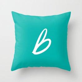 Recettes du Bonheur - Bleu Throw Pillow