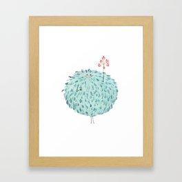 Poofy Frawna Framed Art Print