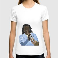 trumpet T-shirts featuring Trumpet player by Aquamarine Studio