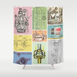 Magical Mechanics Shower Curtain