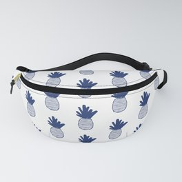 Navy Pineapple Pattern 2 Fanny Pack