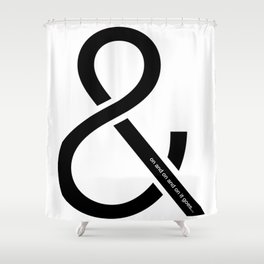 and on and on and on it goes... Shower Curtain