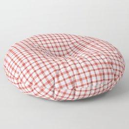 Red tartan plaid pattern Floor Pillow