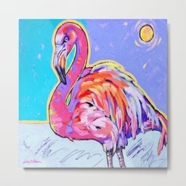 Flamingo Under the Sun Metal Print