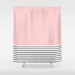 Pink n Stripes  Shower Curtain