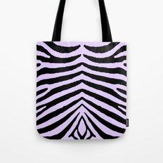 Pale Lilac and Black Zebra Animal Safari Stripes Tote Bag
