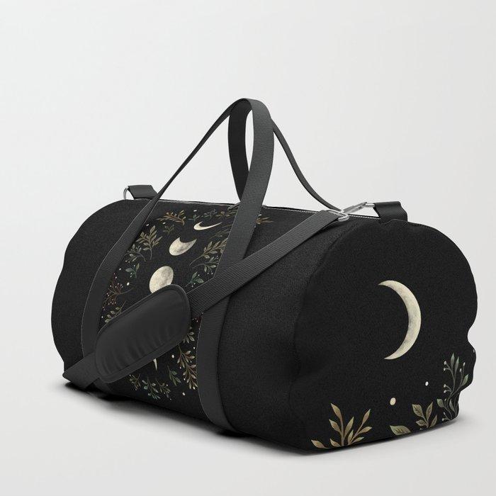Moonlight Garden - Olive Green Duffle Bag