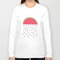watermelon Long Sleeve T-shirts featuring watermelon by miss Sue