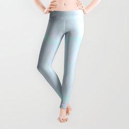 Subtle and Artsy Creative Prep in Blue Paint Leggings
