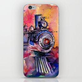 American Train by Kathy Morton Stanion iPhone Skin