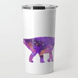 Dinosaur Brachiosaurus Art Print Wild Animals Nursery Decor Kids Room Watercolor Pint Purple Art Travel Mug