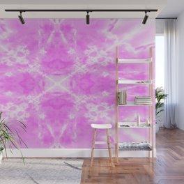Pink kaleidoscope star Wall Mural