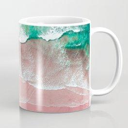 Beach in Portugal, Algarve, Lagos, Beach Print, Pink Beach Print, Bondi Beach, Pink Print, Ocean Coffee Mug