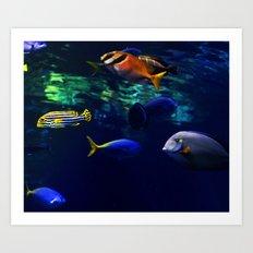 Underwater Society #home #society6 Art Print