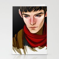 merlin Stationery Cards featuring Merlin by MJ Erickson