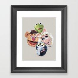 The Muppets (Kermit Piggy Fozzy & GONZO) Framed Art Print
