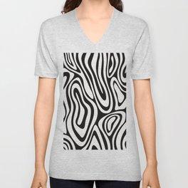 Modern abstract geometrical black white pattern Unisex V-Neck
