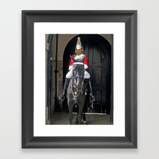 The Napping Guard Framed Art Print
