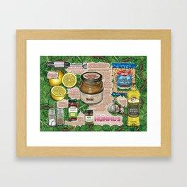 Hummus Recipe Framed Art Print