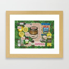 Hummus Recipe Framed Art Print