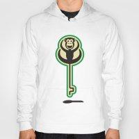 monkey Hoodies featuring monKEY by creaziz